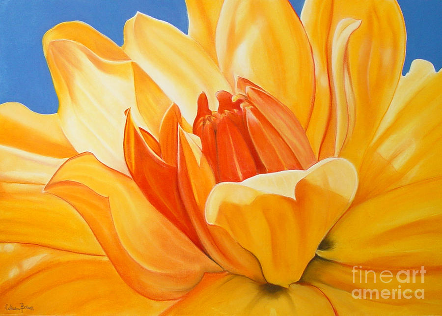 Floral Painting - Saffron Splendour by Colleen Brown
