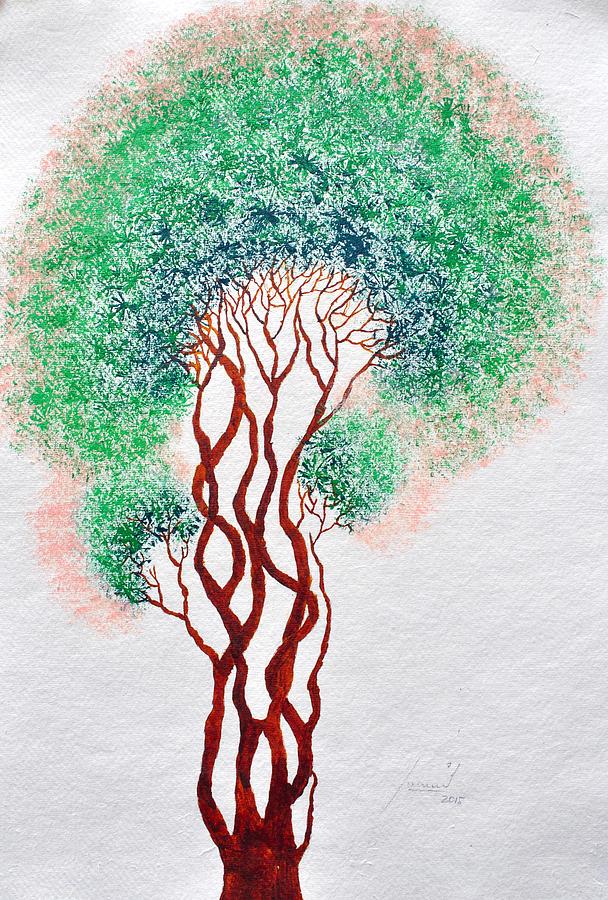 Treescape Painting - Safpar Vriksh by Sumit Mehndiratta
