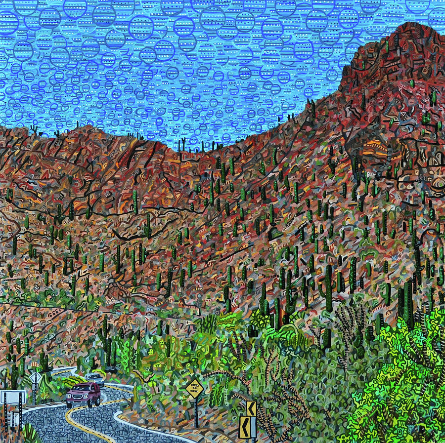 Tucson Painting - Sagauro National Park by Micah Mullen