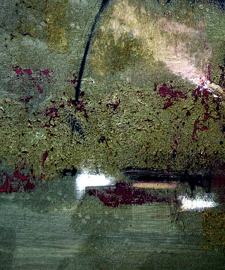 Abstract Painting - Sage And Plum by Ruth Palmer