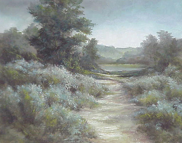 Oil Painting - Sage And Softness by Patricia Carlson