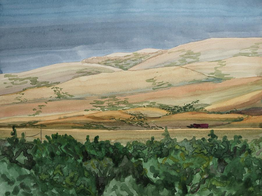 Plein Air Painting - Sage Brush Field by Bethany Lee