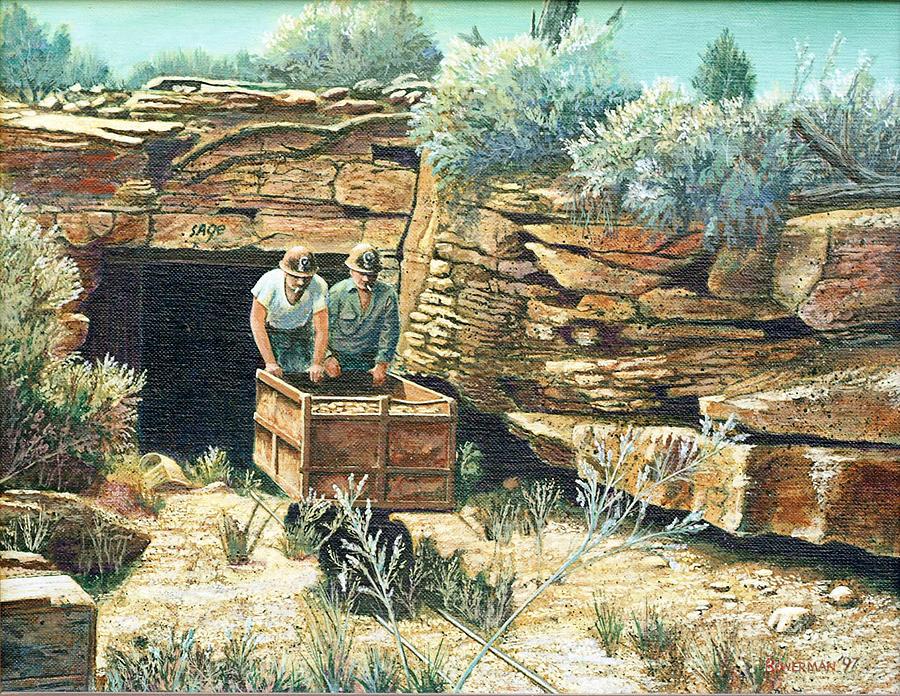 Uranium Mining Painting - Sage Mine by Lee Bowerman