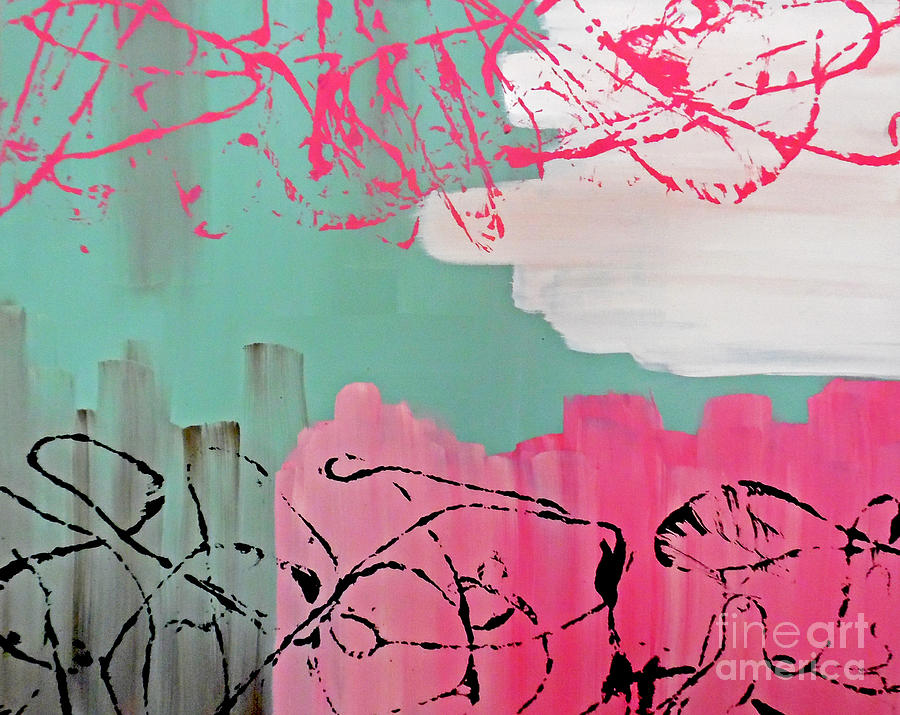 Pink Painting - Sage String by Jilian Cramb - AMothersFineArt