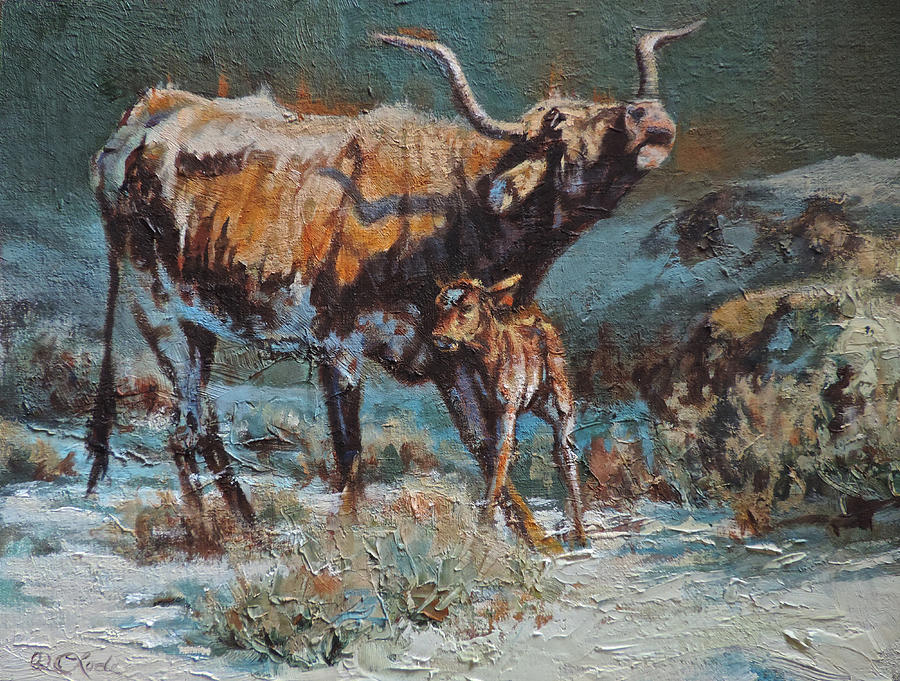 Longhorn Painting - Sagebrush Lullaby by Mia DeLode