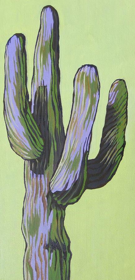 Saguaro Painting - Saguaro 5 by Sandy Tracey