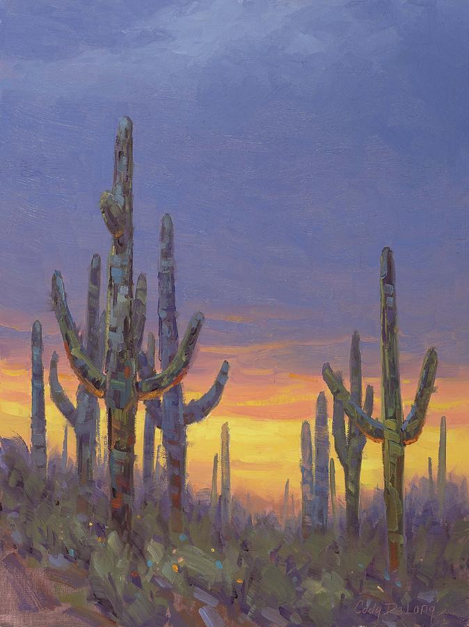 Saguaro Painting - Saguaro Mosaic by Cody DeLong