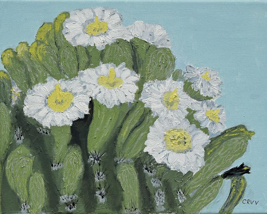 Saguaro Painting - Saguaro Spring by Charla Van Vlack