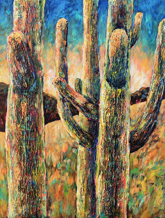 Saguaros in Rhapsody by Sally Quillin