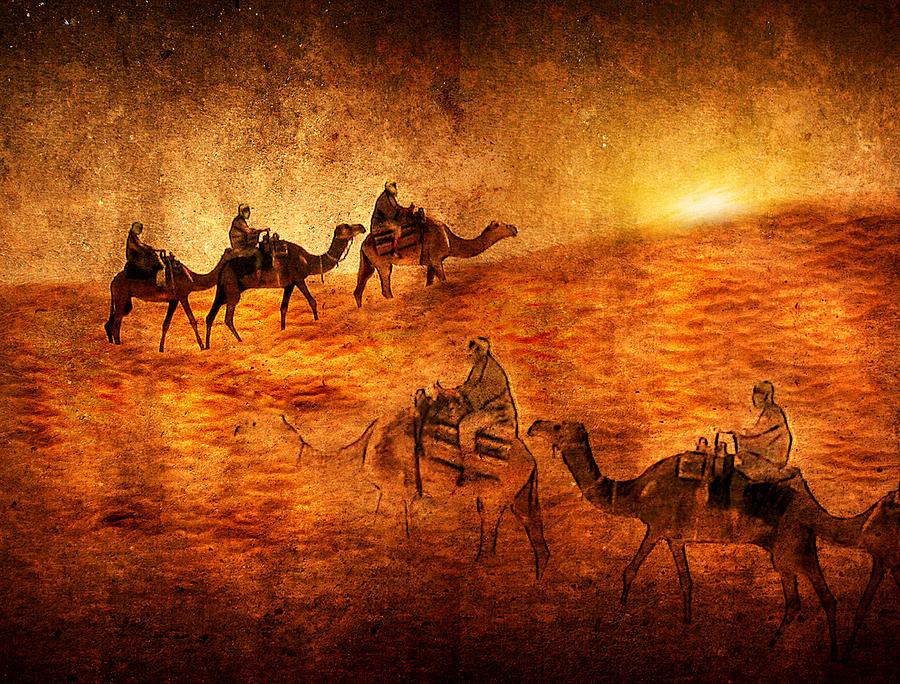 Abstract Digital Art - Sahara by Svetlana Sewell