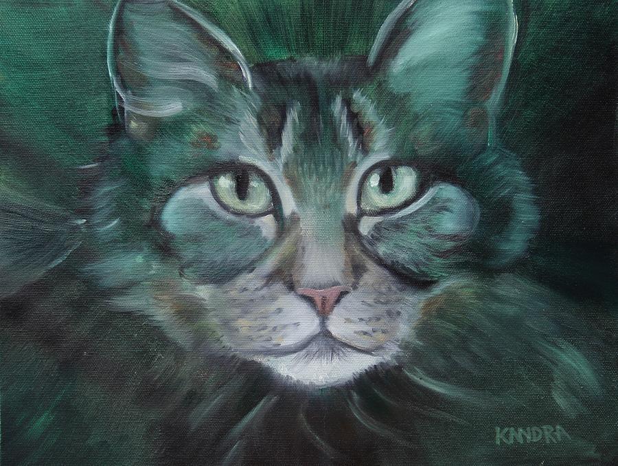 Cat Painting - Saida by Kandra Orr