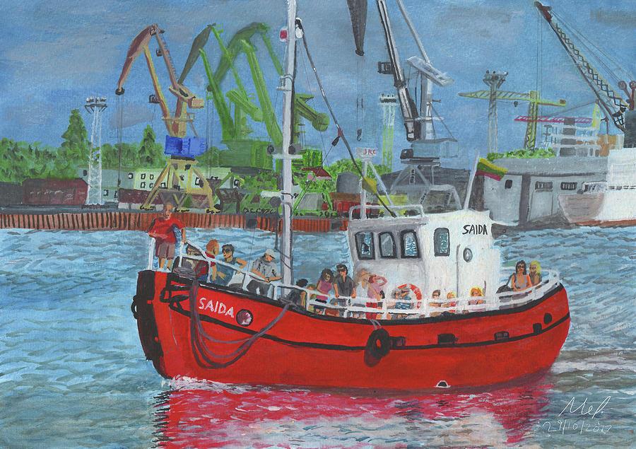 Boat Painting - Saida by Mel Beasley