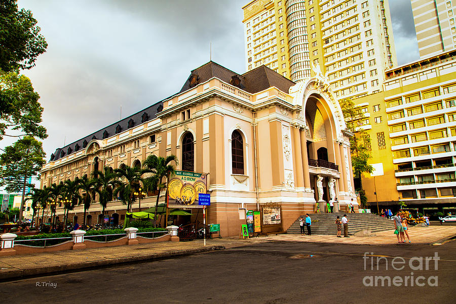 French Architecture Photograph - Saigons Opera House Vietnam by Rene Triay Photography