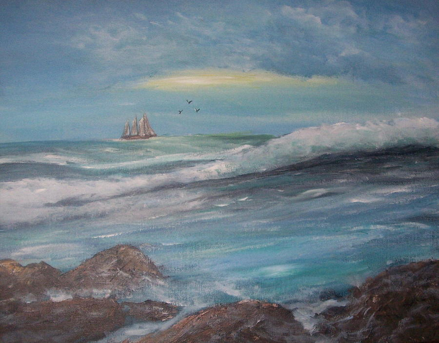 Sailing Painting - Sail  A Long  by Richard Finnell