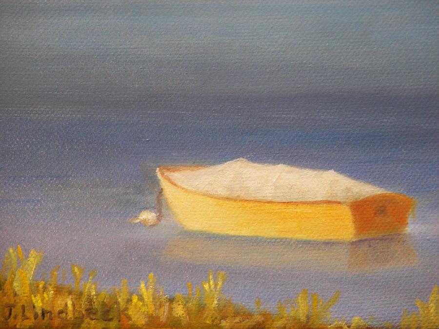 Sailboat Painting - Sail At Rest by John Lindbeck