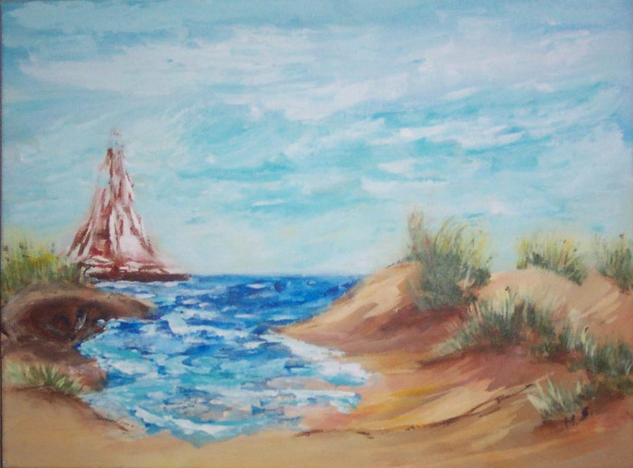 Sailing Painting - Sail Away by Mary Sedici