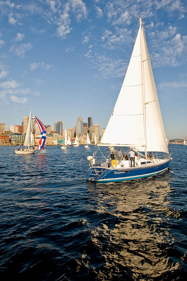Seattle Photograph - Sail Away by Tom Dowd