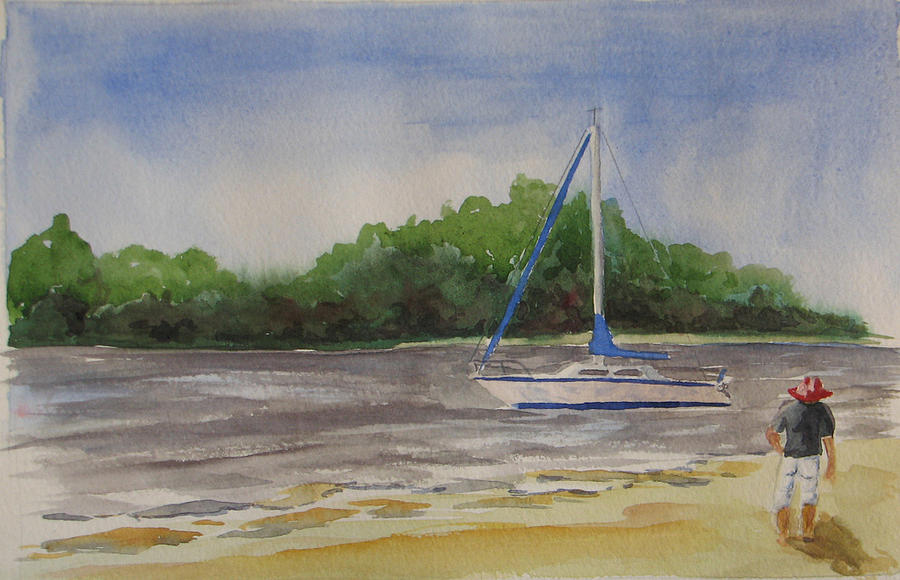 Cedar Key Painting - Sail Aweigh by Libby  Cagle