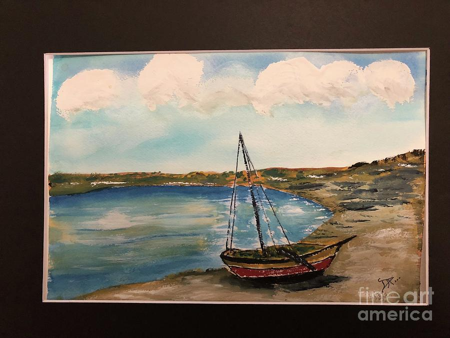 Sail Boat on Shore by Donald Paczynski