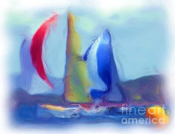 Sail Boats by Duygu Kivanc