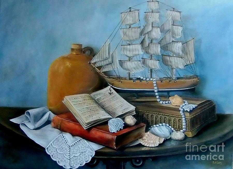 Ships Painting - Sail by Tale by Patricia Lang