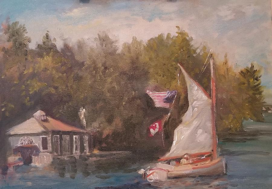 Sail Day on St. Lawrence River by Cheryl LaBahn Simeone