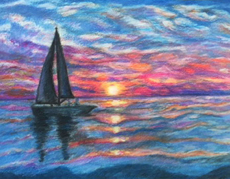 Sailing Painting - Sail On And Fly Like The Wind by The Art With A Heart By Charlotte Phillips