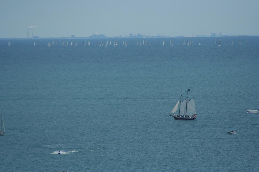 Water Photograph - Sail On Michigan by Gregory Jeffries