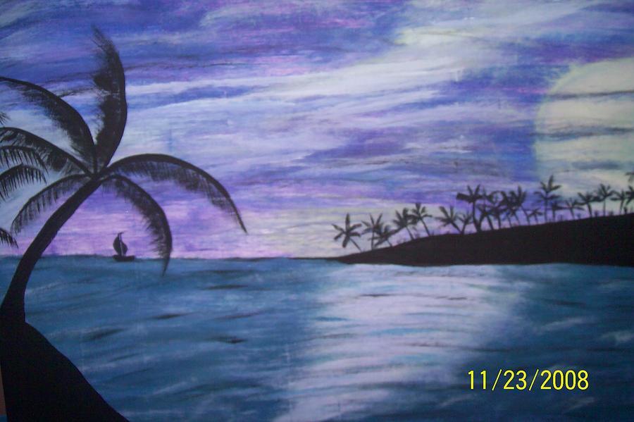 Palm Trees Painting - Sail On by Paula Ferguson
