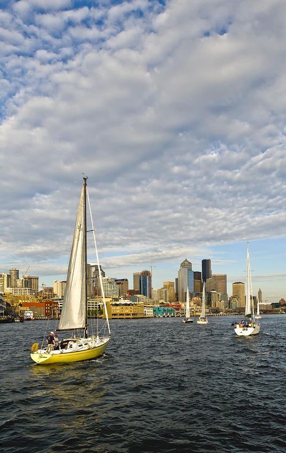 Seattle Photograph - Sail On Seattle by Tom Dowd