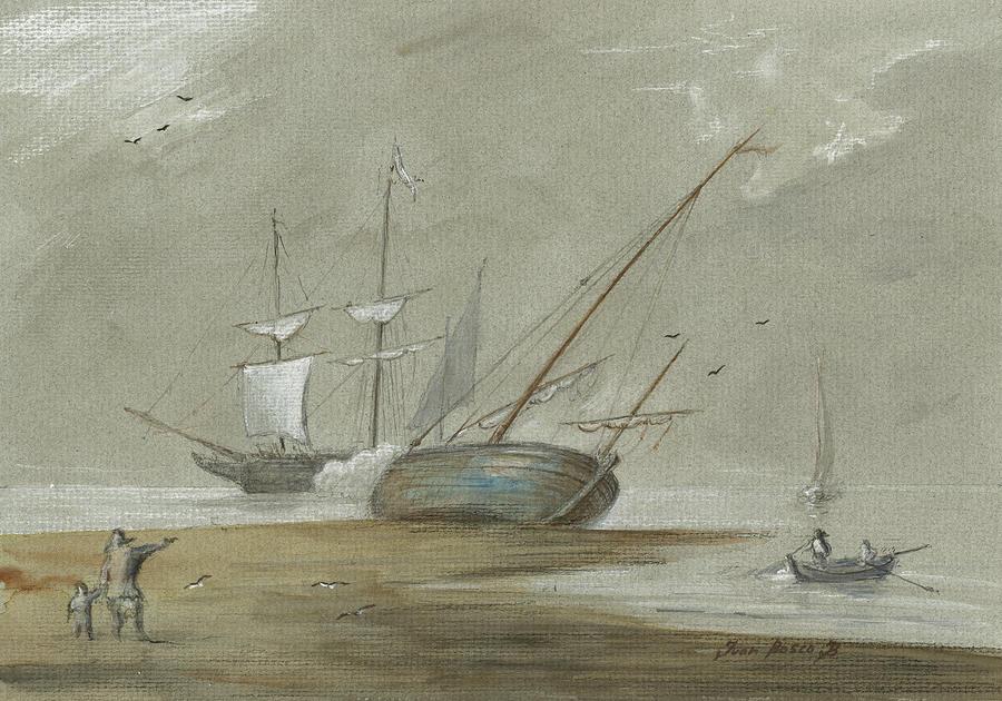 Sail Painting - Sail Ships And Fishing Boats by Juan Bosco