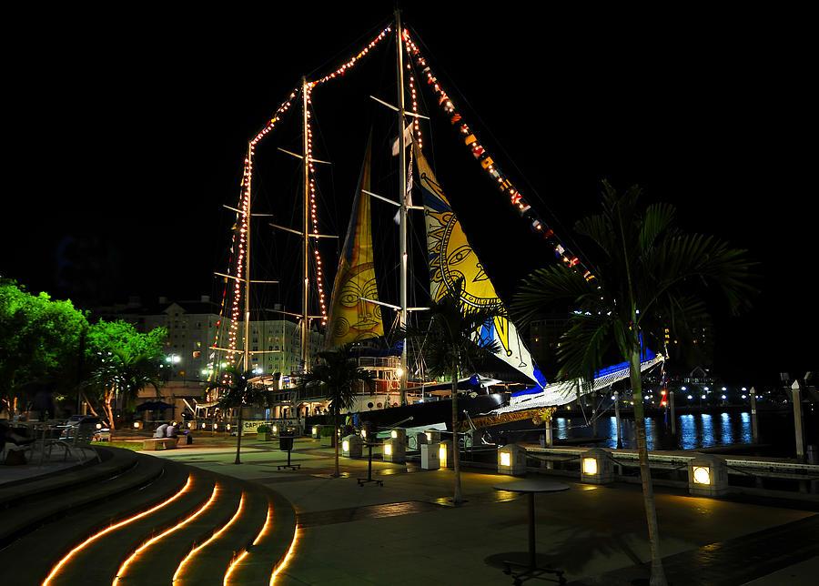 Sailing Ship Photograph - Sail Tampa Bay 2010 by David Lee Thompson