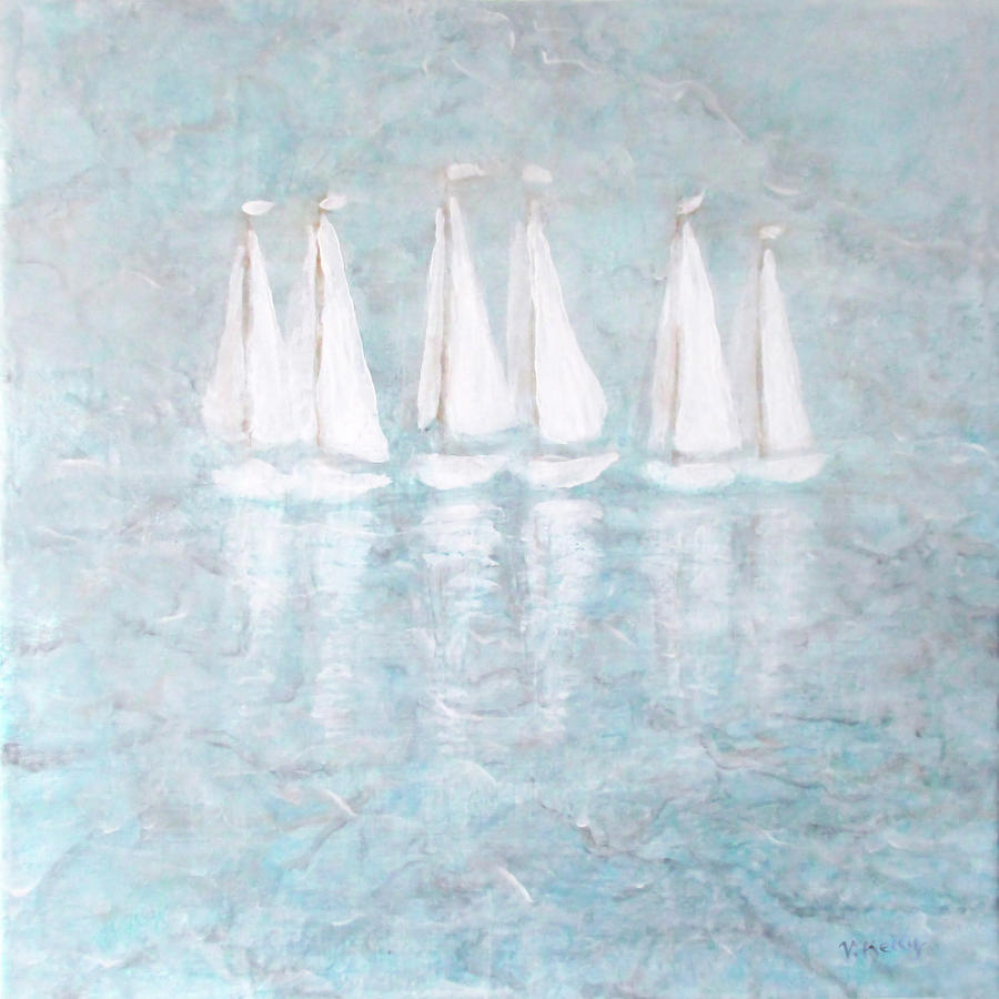 Abstract Painting - Sailaway By V.kelly by Valerie Anne Kelly