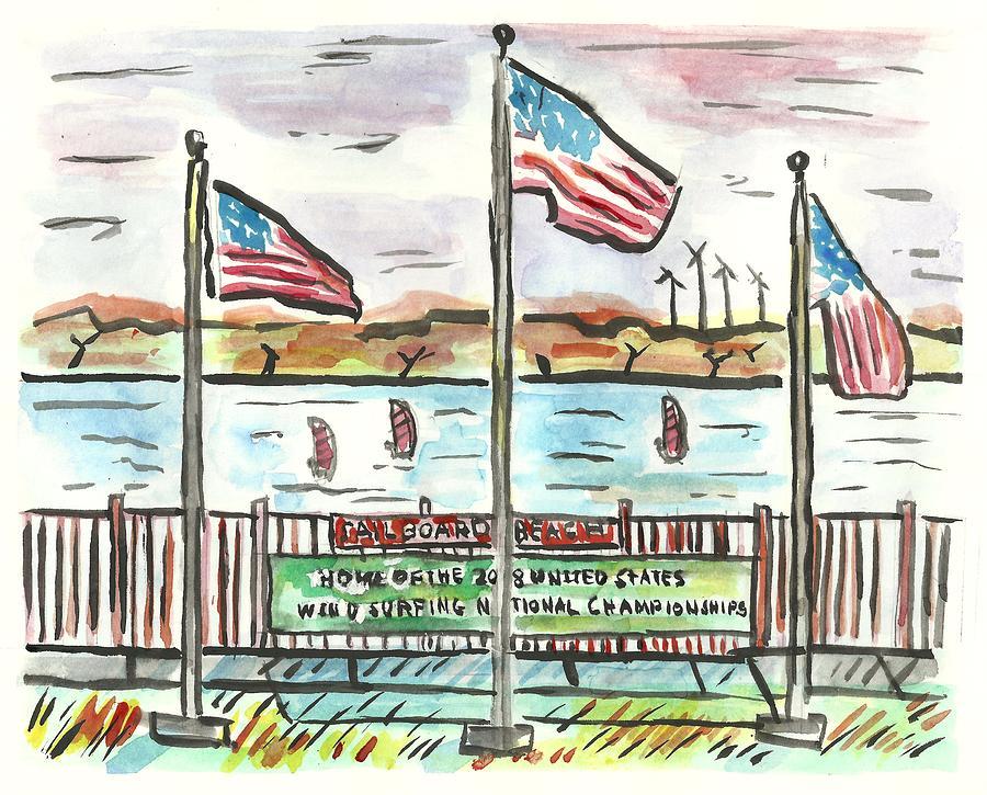 Minnesota Painting - Sailboard Beach by Matt Gaudian