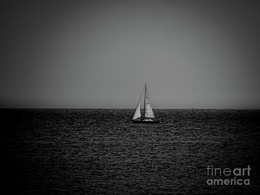 Sailboat 136 BW by Camille Pascoe