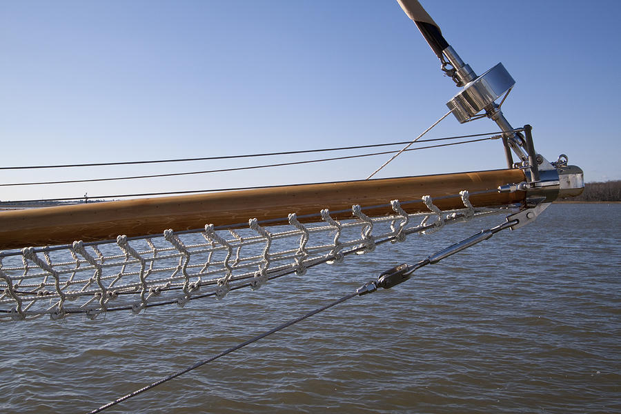 Sailboat Photograph - Sailboat Bowsprit by Dustin K Ryan