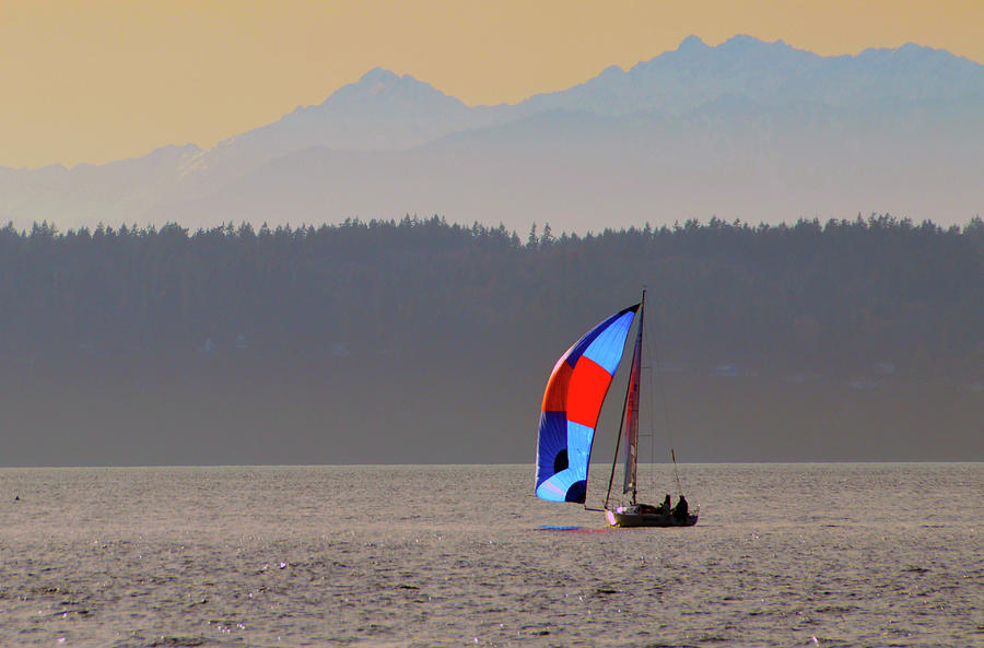 Landscape Photograph - Sailboat by Brian OKelly