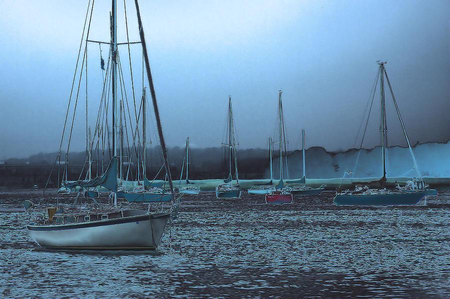 Boats Photograph - Sailboat Harbor by Karol Livote