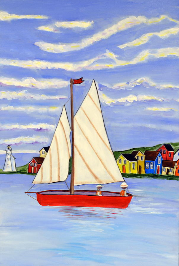 Sailboat by Heather Lovat-Fraser