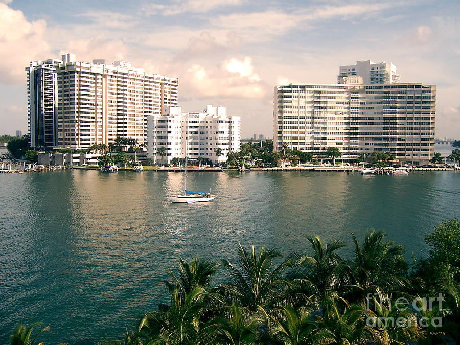 Miami Beach Photograph - Sailboat In Miami Beach Florida by Phil Perkins