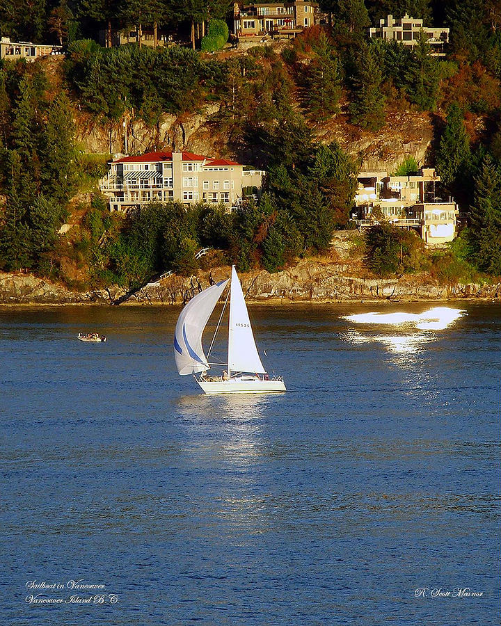 Sailboat Photograph - Sailboat In Vancouver by Robert Meanor