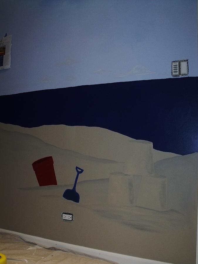 Sailboat Painting - Sailboat Mural 4 by Anna Villarreal Garbis