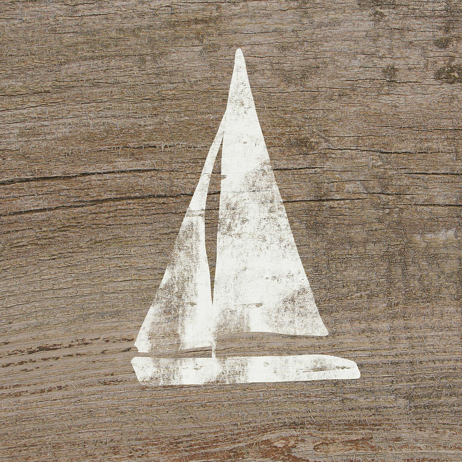 Boat Painting - Sailboat On Wood- Art By Linda Woods by Linda Woods
