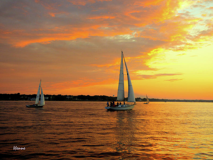 Sailboat Photograph - Sailboat Parade by Robert Henne