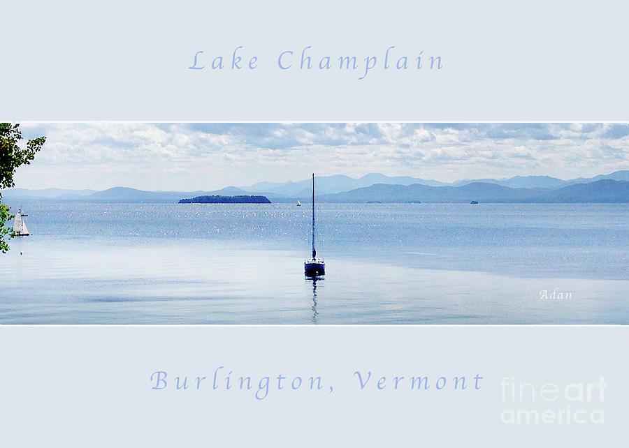 Sailboat Photograph - Sailboat Resting Panorama Greeting Card Poster Soft Pale Blue by Felipe Adan Lerma