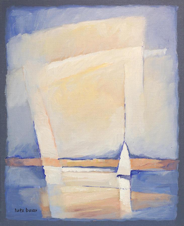 Coast Painting - Sailboat Seascape by Lutz Baar