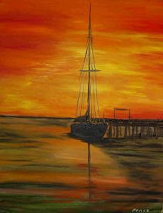 Sailboat Painting by Treavor Pence