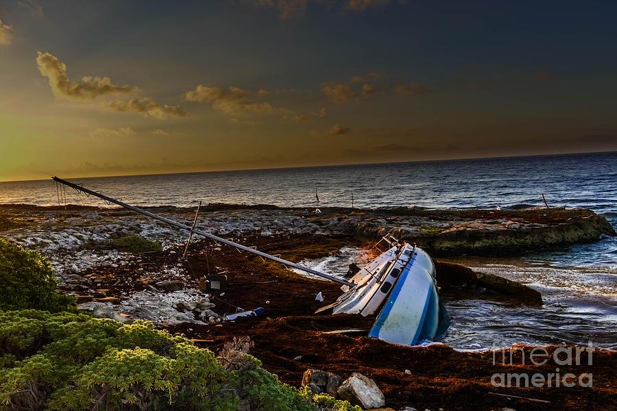 Sailboat Wreck At Eden Pool Cancun by Gary Keesler