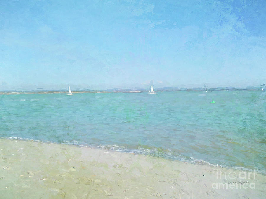 Sailboats at West Wittering by Jayne Wilson