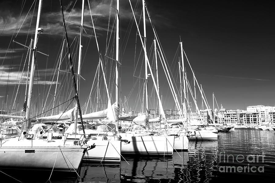 Sailboat Photograph - Sailboats Docked by John Rizzuto